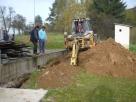 Budování ČOV 10/2010